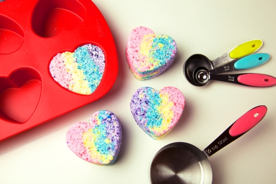 rainbow heart bath bomb blog 1