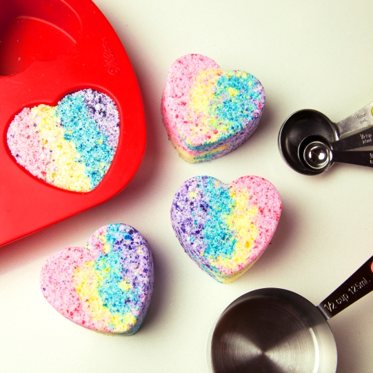 rainbow heart bath bomb blog 1